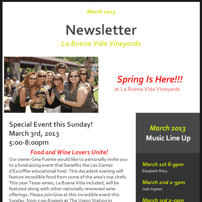 Your Marketing Newsletter
